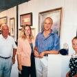 Fiera arte a Bologna con mia moglie Alessandra, mia figlia Elena e mio suocero Giorgio