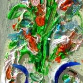 Fiori Composizione Vetro e olio Murano-Venezia